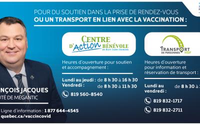 Transport HSF – Gratuit pour la vaccination