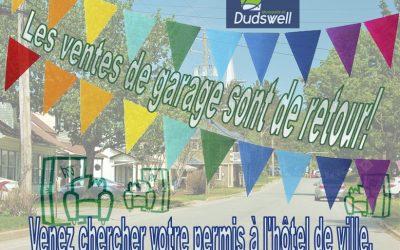 Les ventes de garage sont maintenant permises à Dudswell